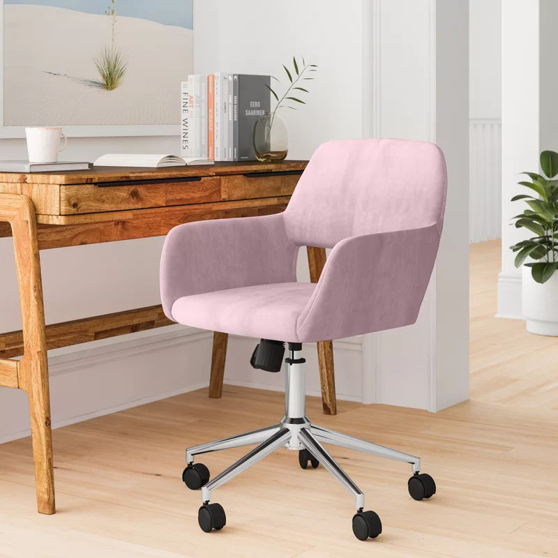 """<h3>Foundstone Mila Task Chair</h3><br><strong>Best For: Petite People</strong><br>This short-back and compact style wheely chair garnered high praise from work-from-homers on the shorter end of the height spectrum. <br><br><strong>The Hype: </strong>4.5 out of 5 stars and 4754 reviews on <a href=""""https://www.wayfair.com/furniture/pdp/foundstone-mila-task-chair-w001834606.html"""" rel=""""nofollow noopener"""" target=""""_blank"""" data-ylk=""""slk:Wayfair"""" class=""""link rapid-noclick-resp"""">Wayfair</a><br><br><strong>Comfy Butts Say:</strong> """"This chair is really comfortable. I'm 5'2, so the back is perfect for me but might be uncomfortable for someone really tall. It was extremely easy to put together.""""<br><br><strong>Porch & Den</strong> Sabrina Velvet Home Office Swivel Chair, $, available at <a href=""""https://go.skimresources.com/?id=30283X879131&url=https%3A%2F%2Fwww.overstock.com%2FHome-Garden%2FFurnitureR-Home-Office-Swivel-Fabric-Velvet-Task-Chairs%2F28081510%2Fproduct.html"""" rel=""""nofollow noopener"""" target=""""_blank"""" data-ylk=""""slk:Overstock.com"""" class=""""link rapid-noclick-resp"""">Overstock.com</a><br><br><strong>Foundstone</strong> Mila Task Chair, $, available at <a href=""""https://go.skimresources.com/?id=30283X879131&url=https%3A%2F%2Fwww.wayfair.com%2Ffurniture%2Fpdp%2Ffoundstone-mila-task-chair-w001834606.html"""" rel=""""nofollow noopener"""" target=""""_blank"""" data-ylk=""""slk:Wayfair"""" class=""""link rapid-noclick-resp"""">Wayfair</a>"""