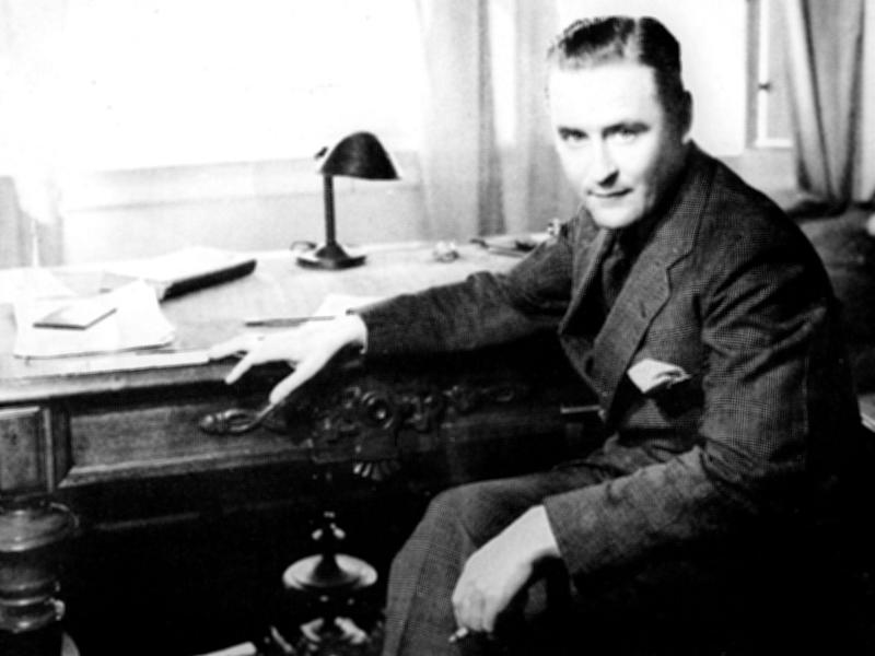 F Scott Fitzgerald at his writing desk in 1933: Getty Images
