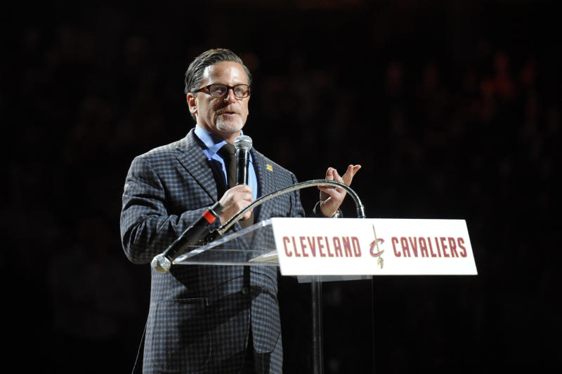 77b27857cd33 Owner Dan Gilbert  Cavaliers  front office  united  on choice for No. 1  pick in 2014 NBA draft