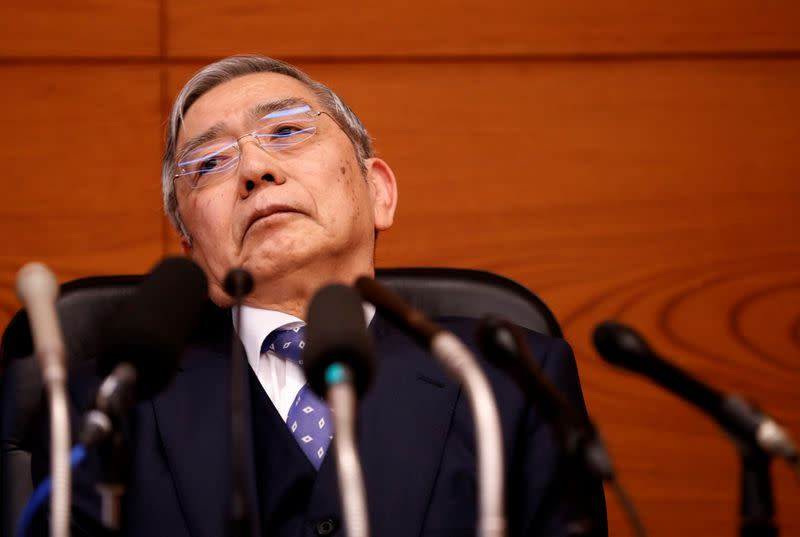 Presidente do banco central do Japão, Haruhiko Kuroda