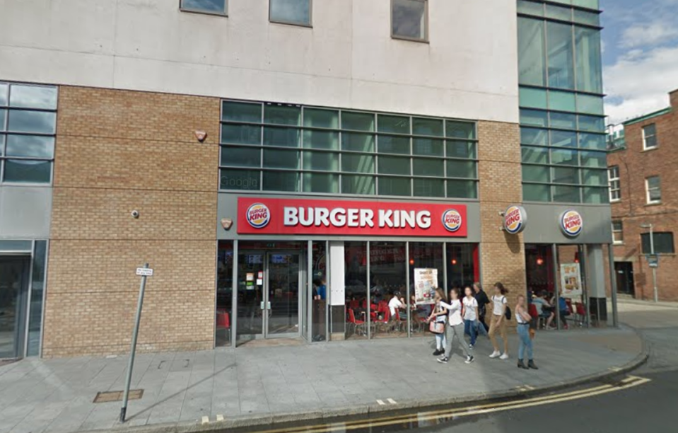 The incident took place at the Folkestone branch of Burger King. (Google)
