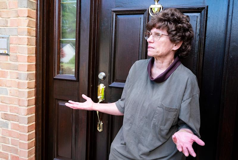 After making racist remarks in Thursday's Marysville candidate forum, City Council candidate Jean Cramer responds to questioning at her Marysville home Friday, Aug. 23, 2019. Cramer says she plans to stay in the race, despite several call-outs for her to back out of the race.