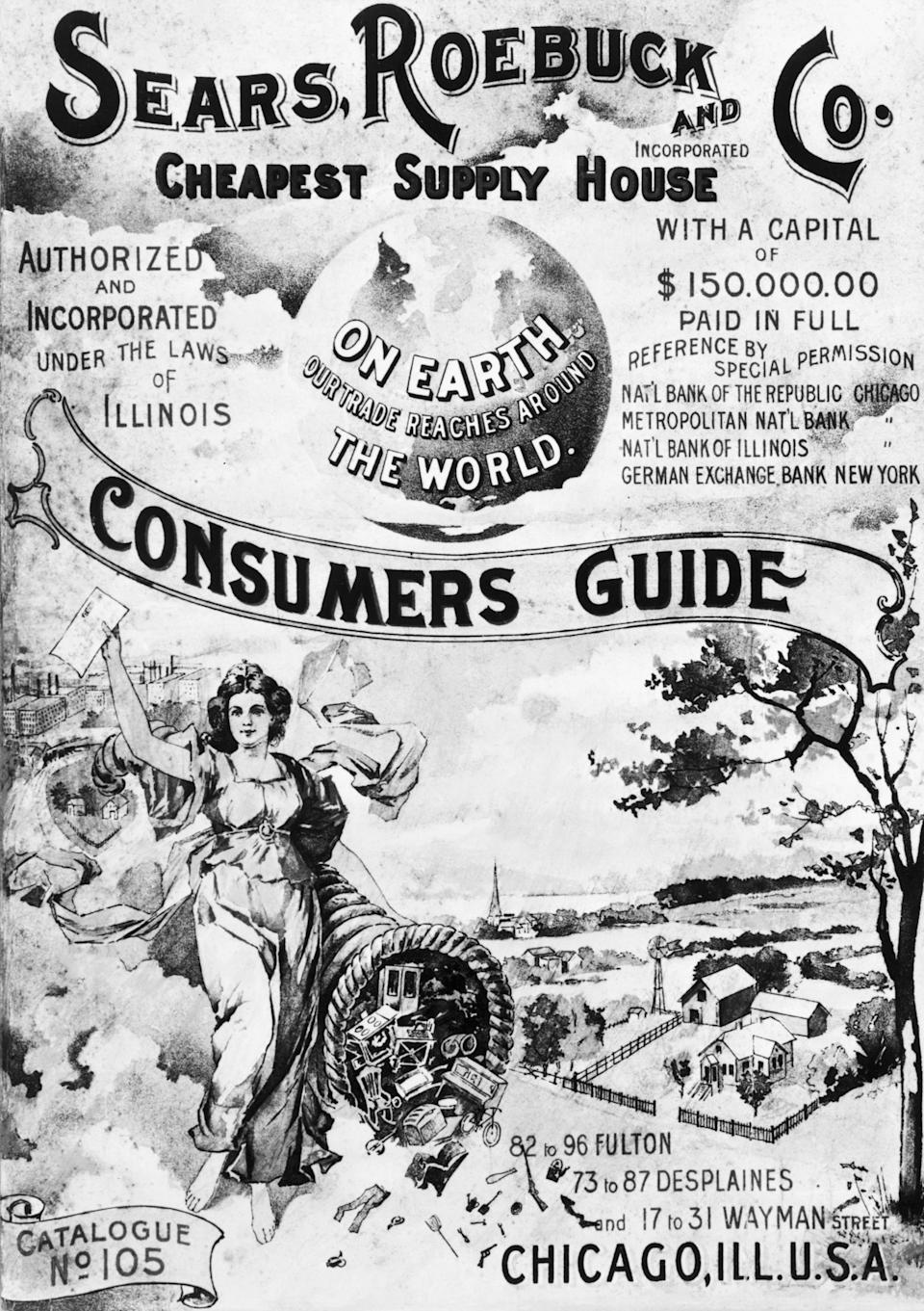 Cover of a Sears Roebuck & Co. Consumer's Guide, Fall 1897.