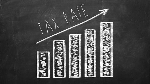 A chart shows tax rates