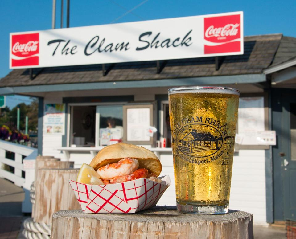 """<p>Locals may disagree about the single best lobster roll in Maine, but the sandwich served at <a href=""""https://www.theclamshack.net/"""" rel=""""nofollow noopener"""" target=""""_blank"""" data-ylk=""""slk:The Clam Shack in Kennebunkport"""" class=""""link rapid-noclick-resp"""">The Clam Shack in Kennebunkport</a> is likely high on everyone's list. It's simplicity at its finest: sweet, locally-caught lobster, melted butter and/or mayonnaise piled on a freshly baked, round white roll.</p>"""