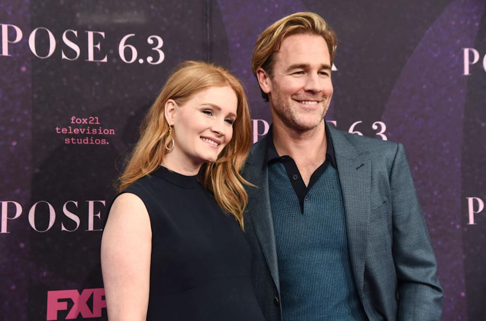 James Van Der Beek has revealed his wife has suffered a miscarriage, the couple are pictured here in May 2018 [Photo: Getty]