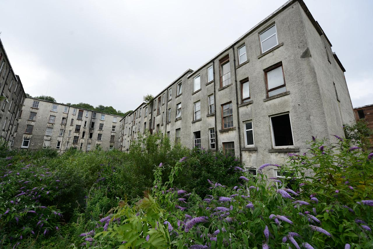 Clune Park, Port Glasgow, Inverclyde, only has about 20 inhabitants in its 430 flats (Picture: SWNS)