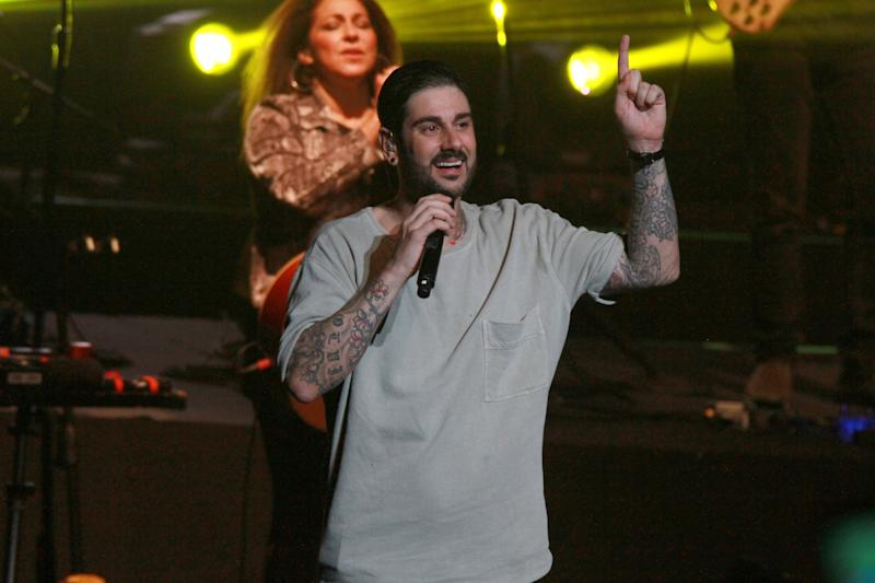 SAN JUAN, PUERTO RICO - MAY 18: Melendi performs on stage at Centro de Bellas Artes on May 18, 2019 in San Juan, Puerto Rico. (Photo by Gladys Vega/Getty Images)
