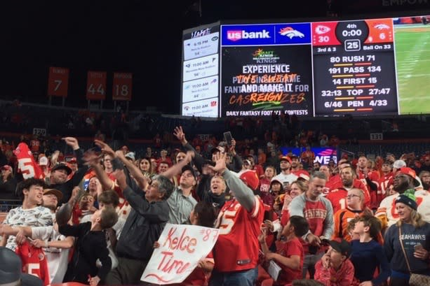 This does not look like a fanbase in mourning. (Yahoo Sports)