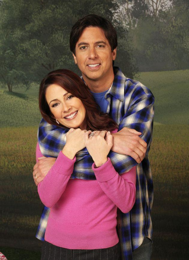 Patricia Heaton, pictured with small-screen husband Ray Romano, on