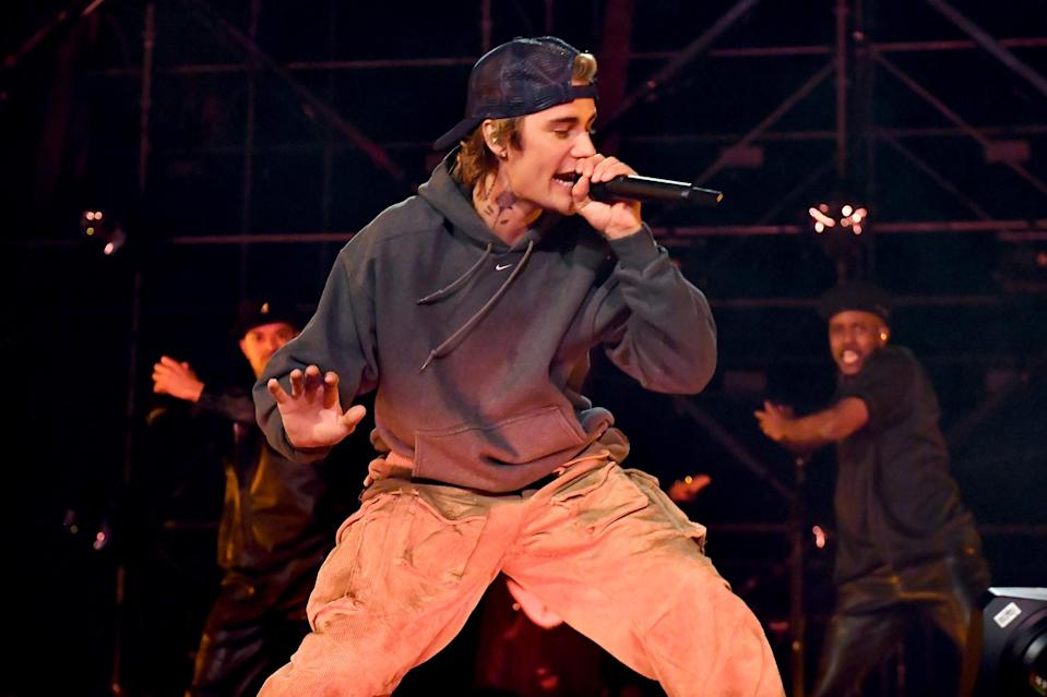 <p>Justin Bieber performed during <em>NYE Live with Justin Bieber</em>, presented by T-Mobile, at The Beverly Hilton in Beverly Hills, California.</p>
