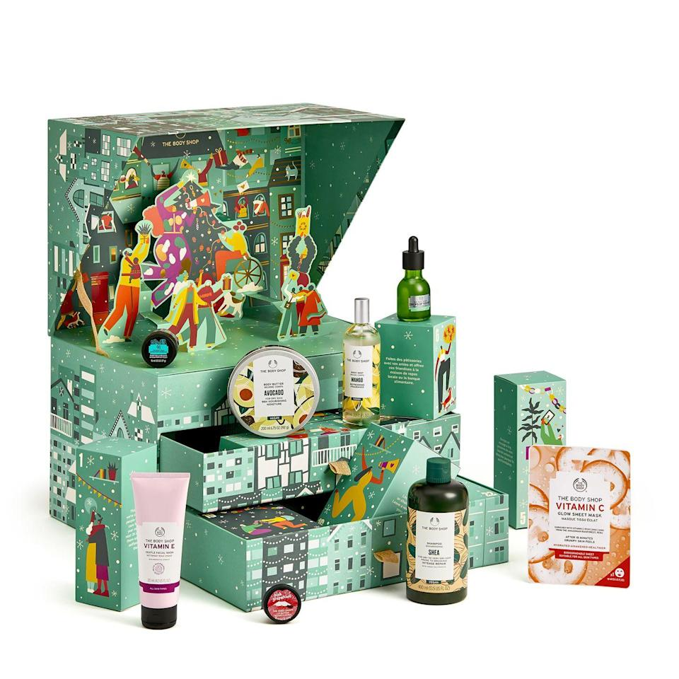 <p>Available 31 August</p><p>If a more indulgent beauty advent calendar is what you had in mind (for yourself or a friend), then The Body Shop's third instalment is the one for you. With three tiers filled to the brim with classic products including the Vitamin C sheet mask, it's a win for Body Shop fans.<br></p>