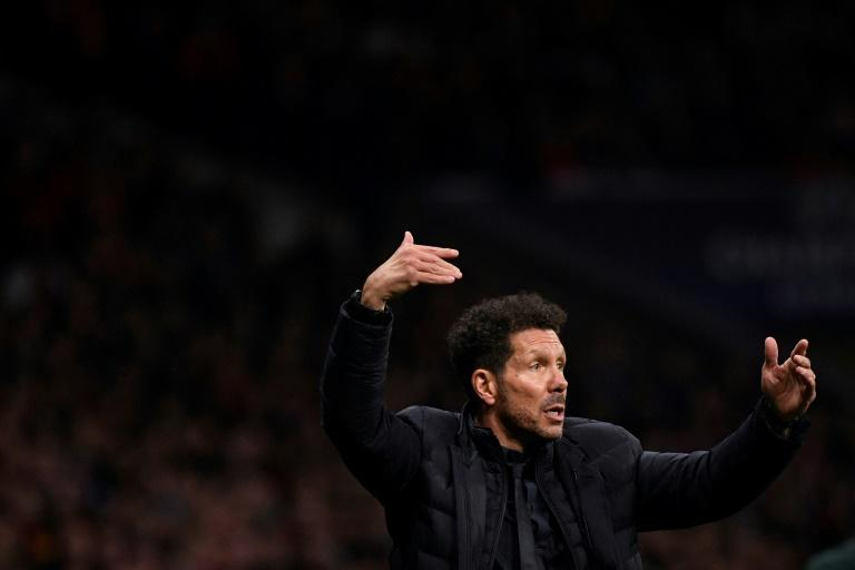 Conductor in chief: Atletico manager Diego Simeone has a proud home record in European ties (AFP Photo/PIERRE-PHILIPPE MARCOU)