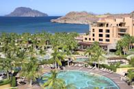 """<p>Surrounded by the stunning waters of the Baja Peninsula and the Sea of Cortez, <a href=""""https://villadelpalmarloreto.com/"""" rel=""""nofollow noopener"""" target=""""_blank"""" data-ylk=""""slk:Villa del Palmar"""" class=""""link rapid-noclick-resp"""">Villa del Palmar</a> in Loreto, Mexico, makes an idyllic retreat for all ages. With its spectacular setting on the Loreto Bay National Marine Park, a UNESCO World Heritage Site, the resort offers a more secluded and serene way to experience the area than those used to vacationing around the Baja Peninsula. </p><p>The resort offers both all-inclusive and standard experiences, along with an exceptional Rees Jones golf course, a 39,000 square-foot spa, four locally inspired restaurants, and exciting nightlife. The resort features one, two, and three-bedroom suites (along with a four-bedroom penthouse accommodation) to comfortably fit your family, plus, an exciting Family Program and Kids' Club. </p>"""