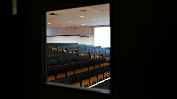 PHOTO: An empty class room inside the Bicocca University in Milan, Italy, March 2, 2020. (Guglielmo Mangiapane/Reuters)