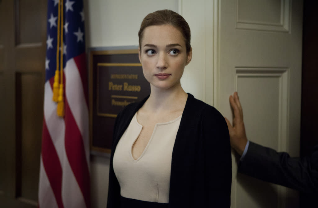 "Kristen Connolly in the ""House of Cards"" Season 1 episode, ""Chapter 10."""