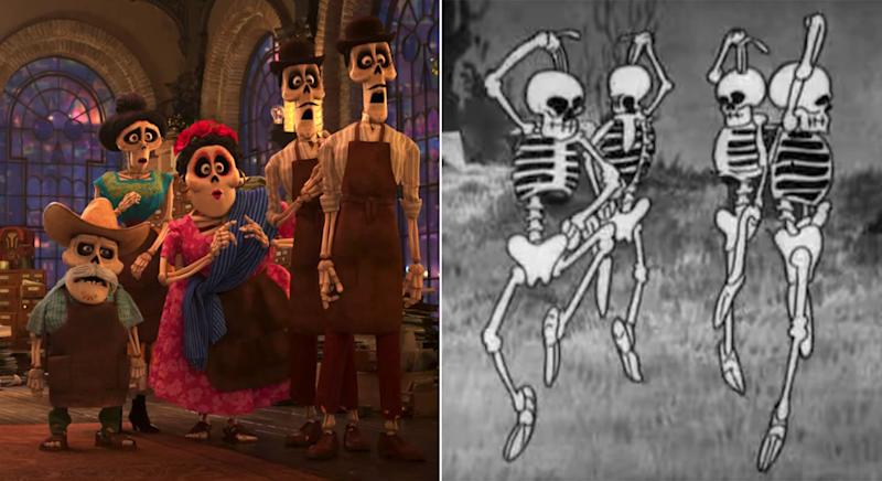No bones about it, 'Coco' owes a lot to 'The Skeleton Dance' (Pixar/Disney)