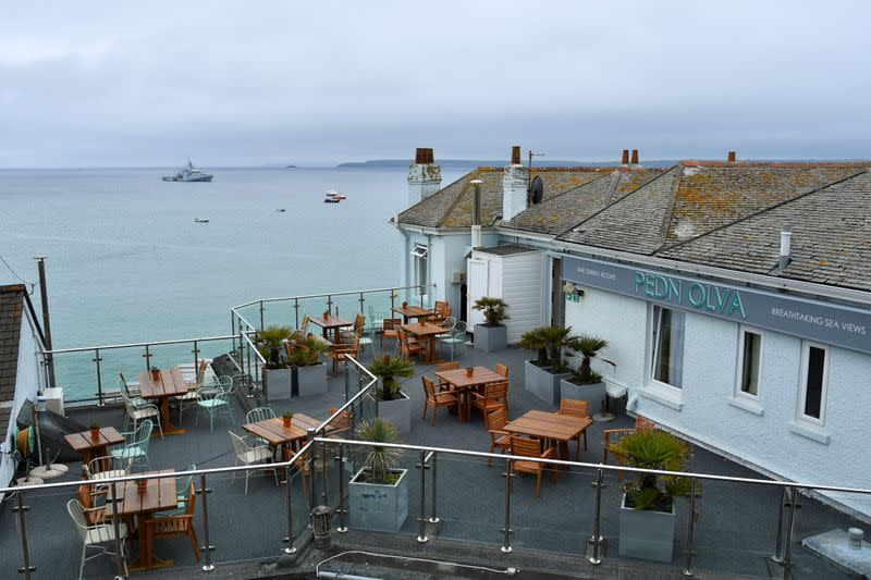The Pedn Olva Hotel is seen, after it was closed due to a guest contracting coronavirus disease (COVID-19), during the G7 leaders summit, in St Ives