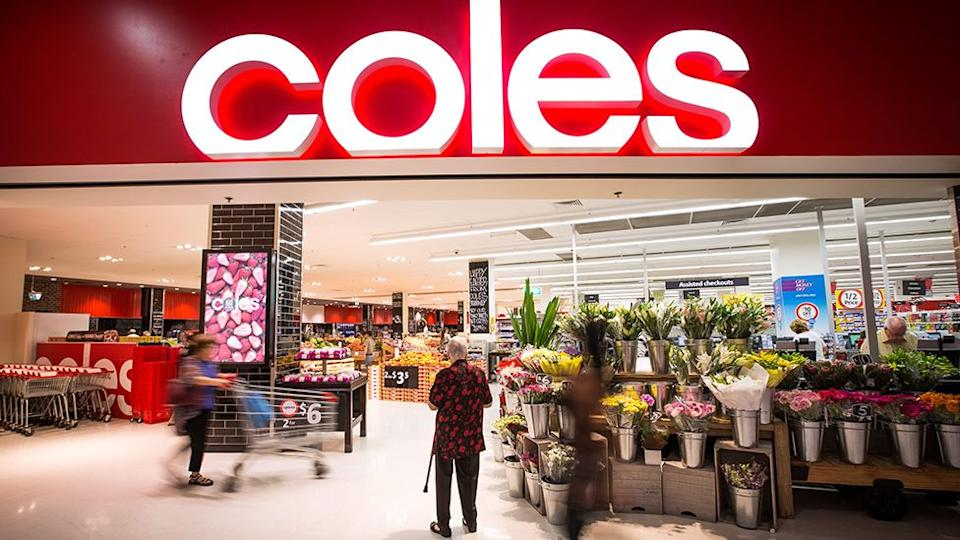 Coles store front. Source: AAP