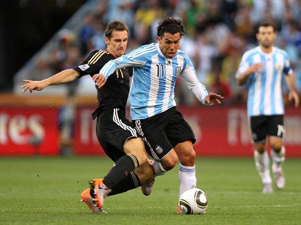 Carlos Tevez used TUEs at the 2010 World Cup (Getty)
