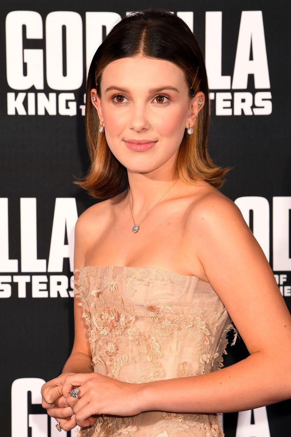 <p>Millie became one of the youngest Emmy nominees in history when she was nominated at age the age of 13 for Outstanding Supporting Actress in a Drama Series for her role as Eleven in <em>Stranger Things</em>. She's also the youngest person to be nominated as a UNICEF Goodwill Ambassador and is so well-spoken it's easy to forget she can't legally drive.</p>