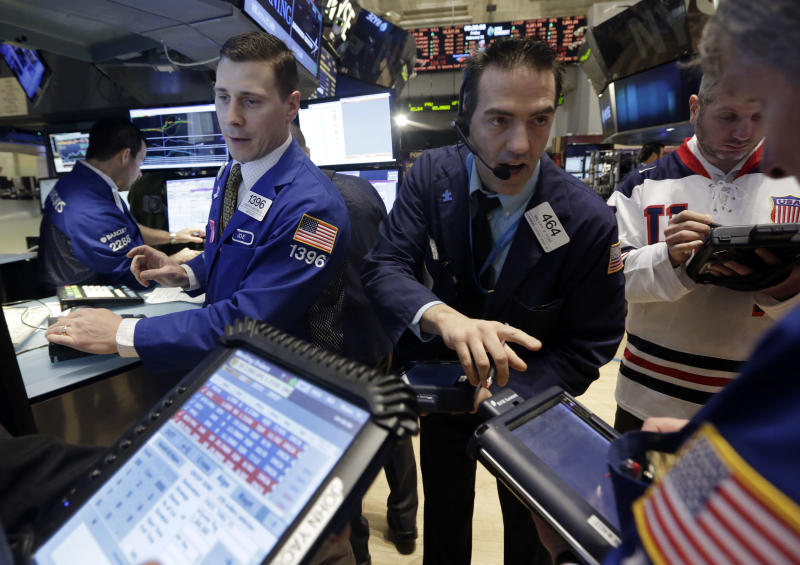 Stocks end lower after an up-and-down day