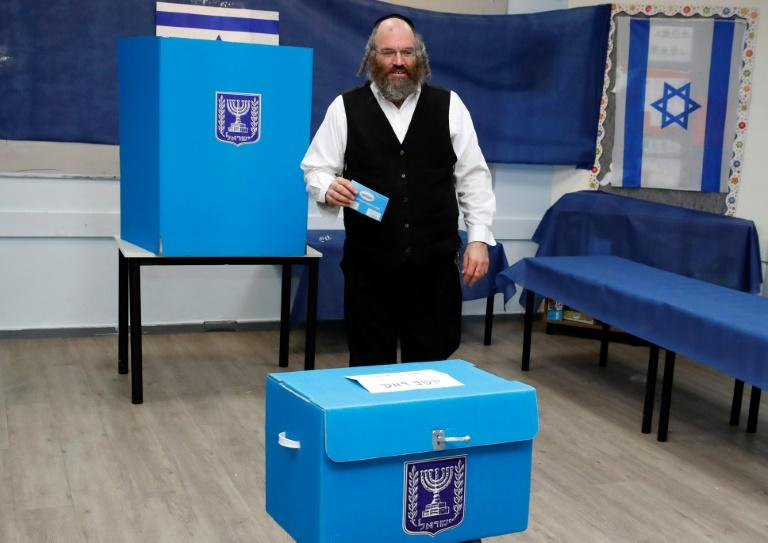 There had been fears of voter disenchantment as Israelis were called to the polls for the second time in five months but early turnout was high (AFP Photo/Jack GUEZ)