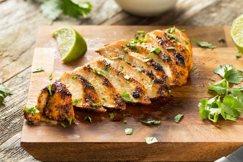 Grilled chicken breast with coriander and lime (Getty Images/iStockphoto)