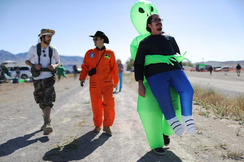 The event in Rachel proved more popular than the festival organised in Hiko. (Getty Images)