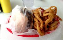 <p>For over 50 years, Bobo's Drive In has been serving customers classic American food, such as burgers, coney dogs, onion rings and chili. What really makes this drive-in stand out is its signature Spanish Burger. Served with either one or two patties, this cheeseburger is topped with a tangy and ever-so-slightly spicy housemade picante sauce.</p>