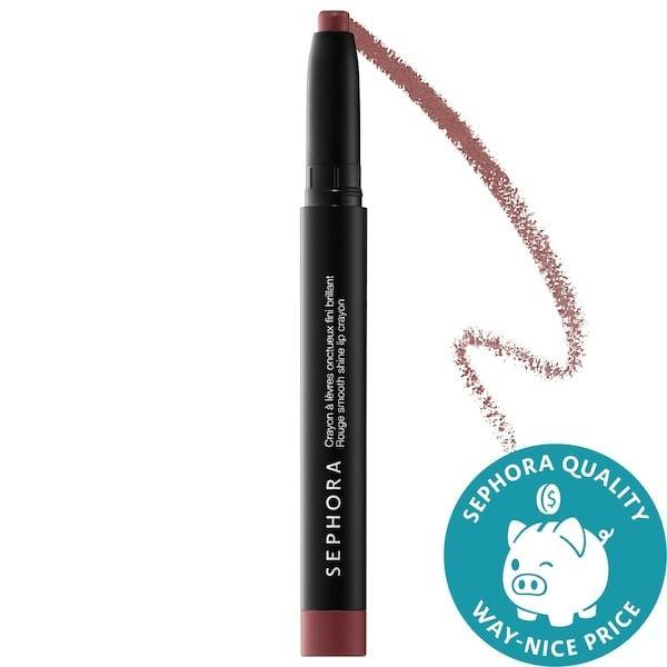 <p>It's not hard to stay with in the lines (of your lips) when grabbing one of the 10 colors of this <span>Sephora Collection Rouge Smooth Shine Lip Crayon</span> ($6, originally $12).</p>
