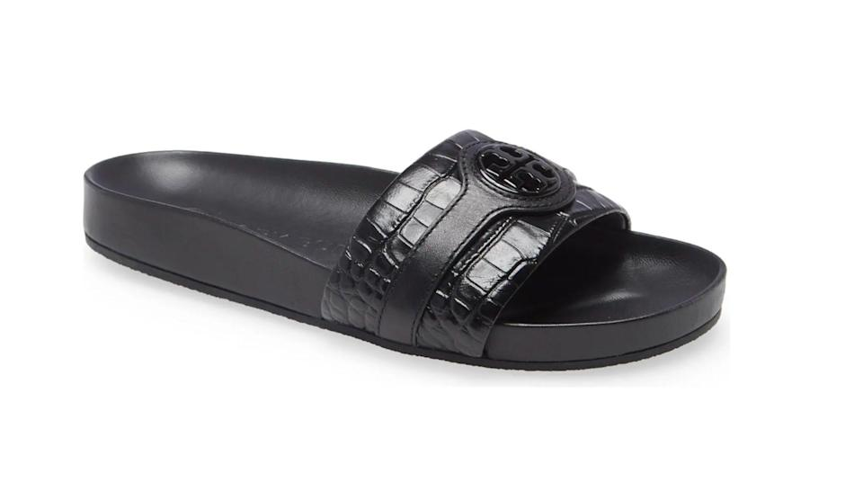 These fashionable slides can be dressed up or down.