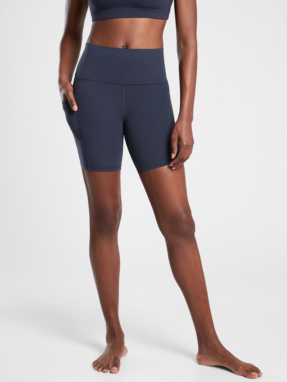 <p>This <span>Athleta Salutation Stash Pocket II Short</span> ($59) is so comfortable, long enough to feel covered, and has pockets. What more could you want?</p>