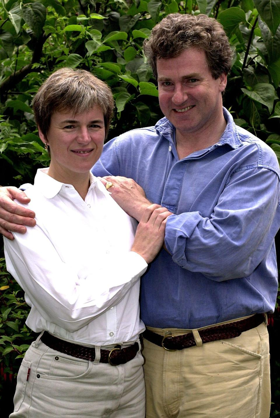 Ainsworth and his wife Claire in 2002 - Lynn Hilton/Mail On Sunday/Shutterstock