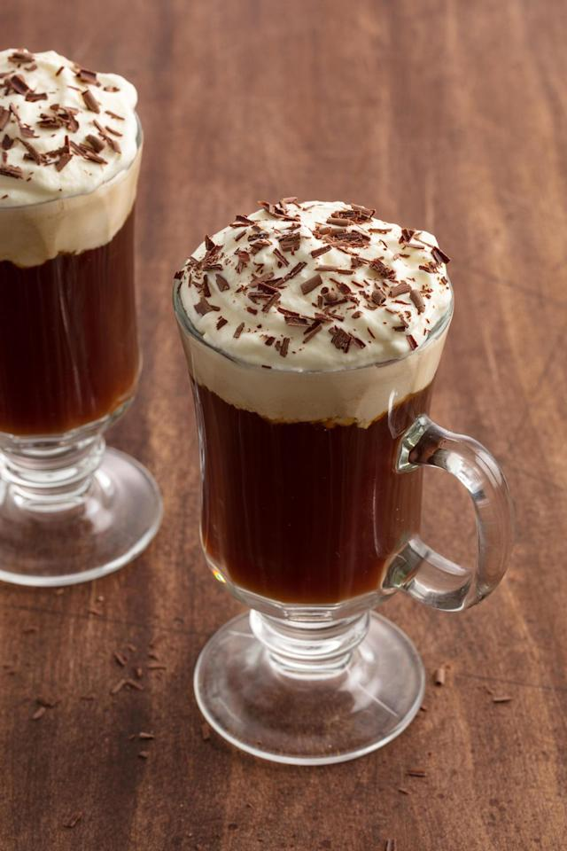 "<p>If there's ever a day to add whiskey to your coffee... </p><p>Get the recipe from <a rel=""nofollow"" href=""https://www.delish.com/cooking/recipe-ideas/recipes/a58347/irish-coffee-recipe/"">Delish</a>.</p>"