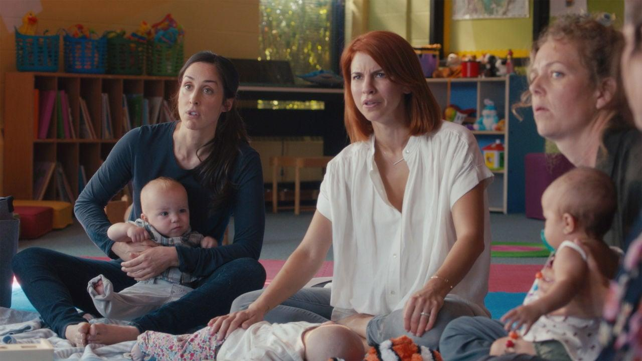 "<p>If you're sick of TV moms who always make child-rearing look easy, then you're going to want to tune in to <strong>Workin' Moms</strong>. This Canadian series follows four friends - an ambitious PR executive, a no-nonsense psychiatrist, an IT tech with an identity crisis, and an unfailingly optimistic real estate agent - who share a bond as women attempting to balance careers and family. From postpartum depression to the agonies of breastfeeding, this dramedy is never afraid to show the less glamorous side of being a new mom, and - best of all - there are three full seasons to binge.</p> <p><a href=""http://www.netflix.com/title/80198991"" target=""_blank"" class=""ga-track"" data-ga-category=""Related"" data-ga-label=""http://www.netflix.com/title/80198991"" data-ga-action=""In-Line Links"">Watch <strong>Workin' Moms</strong> on Netflix</a>.</p>"