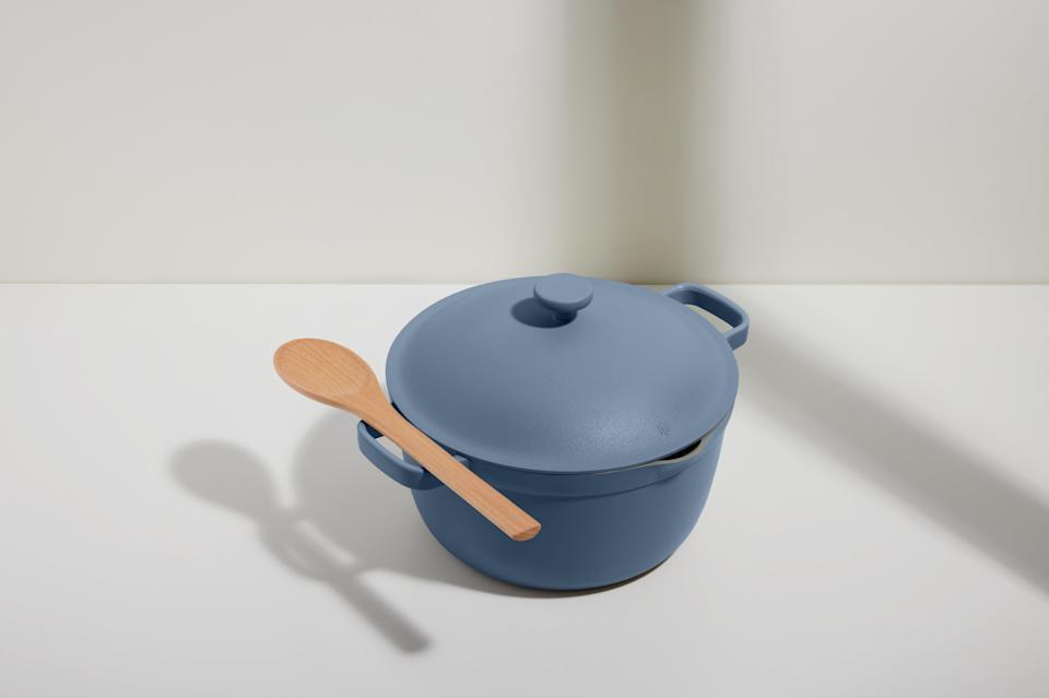 """<h2>Perfect Pot</h2><br>Introducing: the Always Pan's official successor. The Perfect Pot, much like its older sibling, replaces a flurry of cookware — a stockpot, Dutch oven, saucepot, roasting rack, steamer, bread pot, braiser, and spoon rest, all in one. <br><br><strong>Our Place - US</strong> Perfect Pot, $, available at <a href=""""https://go.skimresources.com/?id=30283X879131&url=https%3A%2F%2Ffromourplace.com%2Fproducts%2Fperfect-pot"""" rel=""""nofollow noopener"""" target=""""_blank"""" data-ylk=""""slk:Our Place"""" class=""""link rapid-noclick-resp"""">Our Place</a>"""