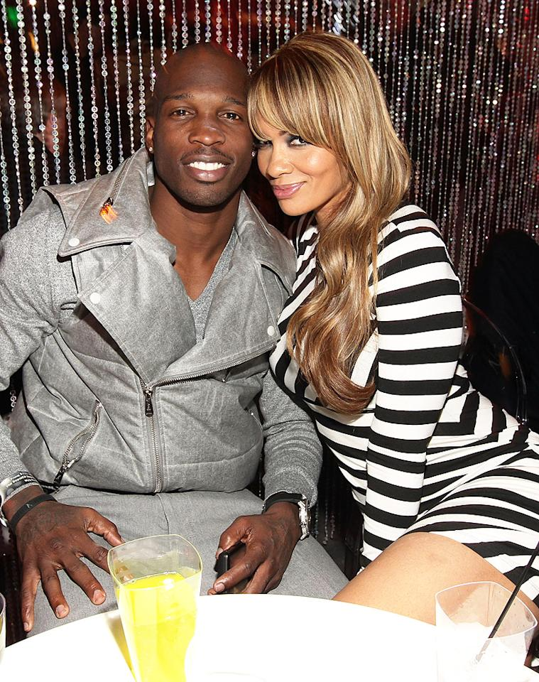 "After football star Chad Johnson (formerly Ochocinco) and Evelyn Lozada's July 4 wedding, the romance quickly went ice cold! On August 11, Johnson, who was then a player for the NFL's Miami Dolphins, was arrested on a misdemeanor domestic violence charge for allegedly headbutting Lozada during an argument. She quickly filed for divorce the following Tuesday, making the time that they lived together as husband and wife 41 days. Since then, the Dolphins cut Johnson from their roster and VH1 canceled a planned reality show about the couple. Lozada also hasn't spoken to Johnson since the incident,<a target=""_blank"" href=""http://www.tmz.com/2012/08/29/evelyn-lozada-chad-johnson-domestic-violence-video/""> according to TMZ</a>. (2/4/2011)"