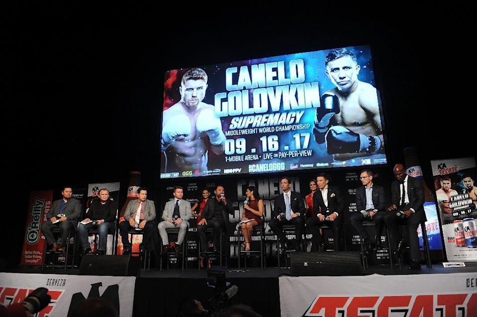 Gennady Golovkin was widely believed to have won last September's first battle against Canelo Alvarez, when a judging controversy dominated the aftermath of the bout (AFP Photo/Brad Barket)