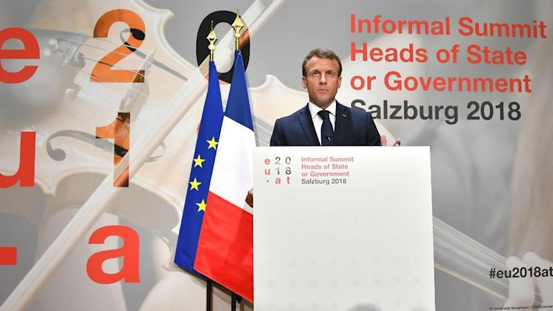 Macron says May's Chequers Brexit blueprint 'not acceptable'