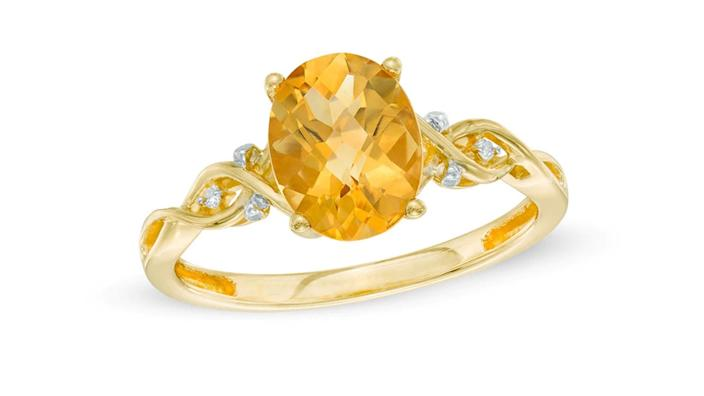 November's birthstone is citrine and this ring is gorgeous.