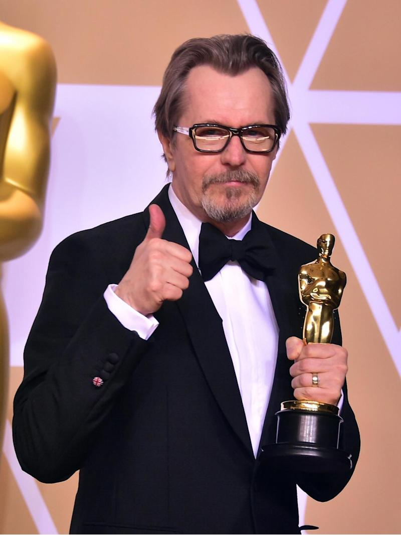 Best Actor: Gary Oldman made an emotional acceptance speech after his award (AFP/Getty Images)