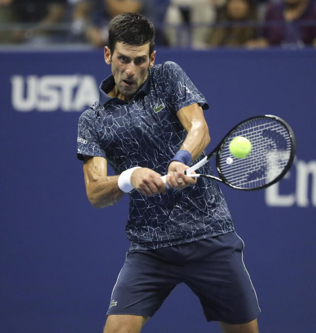 "<a class=""link rapid-noclick-resp"" href=""/olympics/rio-2016/a/1156004/"" data-ylk=""slk:Novak Djokovic"">Novak Djokovic</a> beat Australian <a class=""link rapid-noclick-resp"" href=""/olympics/rio-2016/a/1128002/"" data-ylk=""slk:John Millman"">John Millman</a> in straight sets, but struggled with the heat and humidity at the beginning of the second. Djokovic moves on to his 11th U.S. Open semifinal.  (EE.UU.). EFE/JASON SZENES"