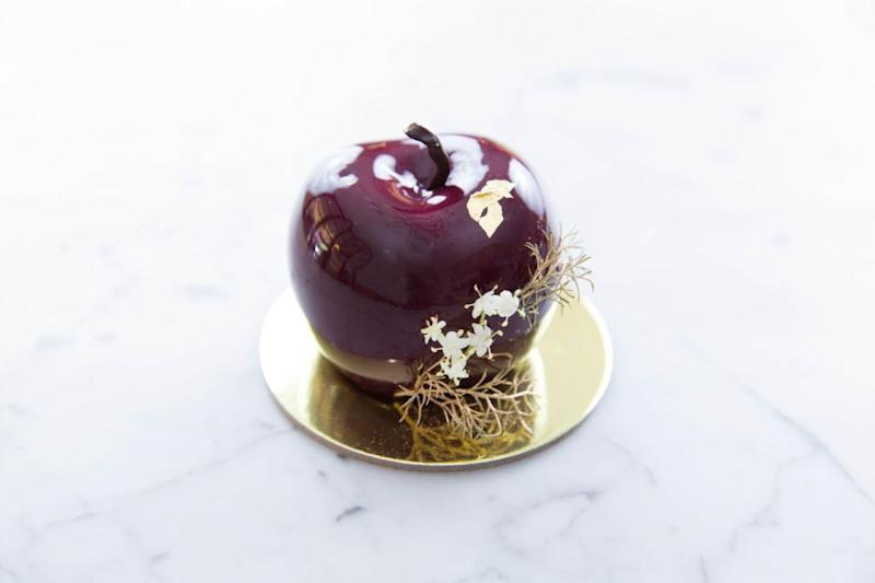 Xmas cherry: Morello cherry mousse, cherry + chocolate ganache, fruit mince soaked in brandy.