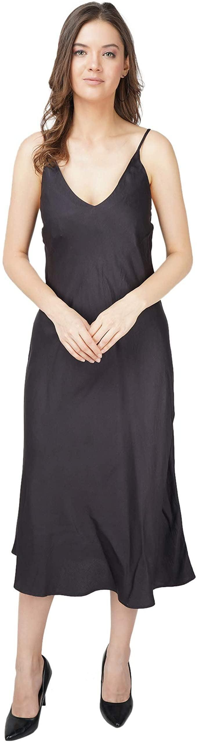 <p>You can't go wrong with this classic and versatile <span>Varsai Slip Dress</span> ($195).</p>