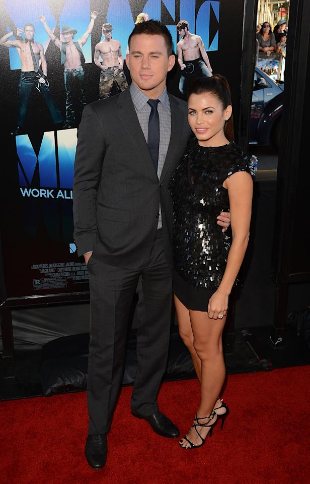 LOS ANGELES, CA - JUNE 24:  Actors Jenna Dewan-Tatum and Channing Tatum arrive at the closing night gala premiere of 'Magic Mike' at the 2012 Los Angeles Film Festiva held at Regal Cinemas L.A. Live on June 24, 2012 in Los Angeles, California.  (Photo by Jason Merritt/Getty Images)