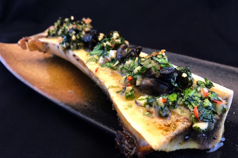 Escargot on bone marrow. Photo: FrapasBar