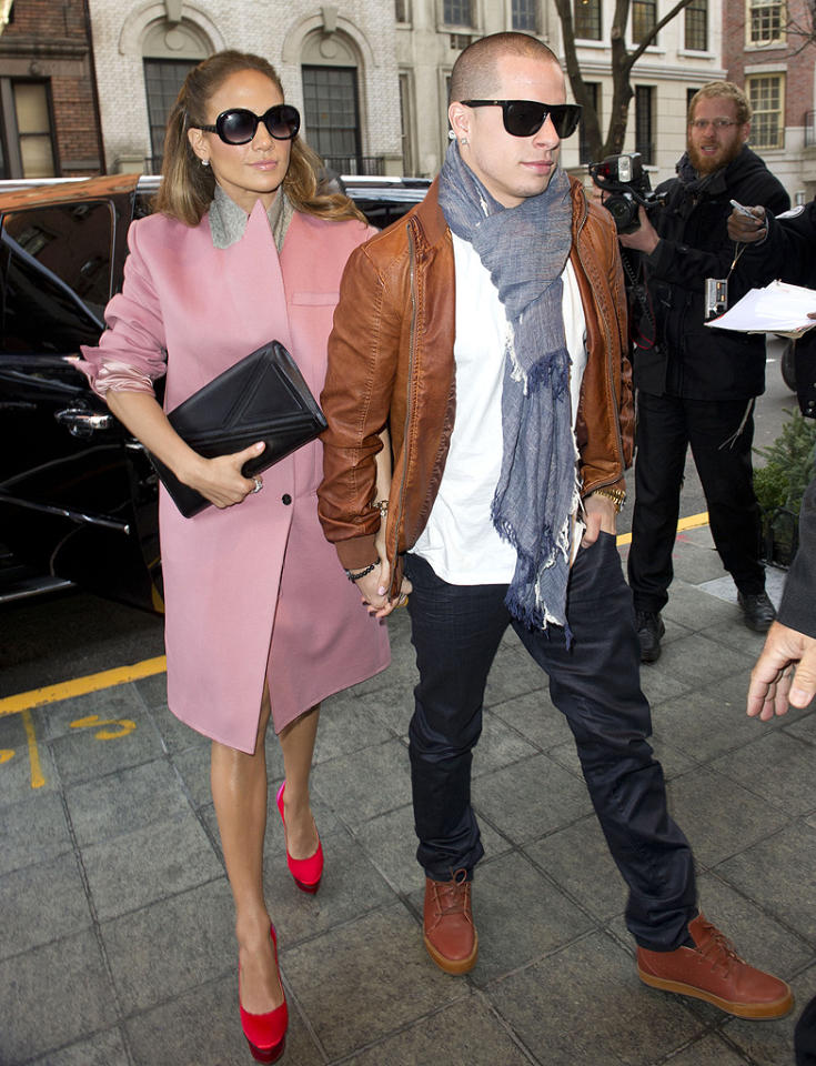 "Jennifer Lopez was pretty in pink as she and her casually-dressed beau Casper Smart returned to their Manhattan hotel Monday morning after taping the ""Today"" show. Could marriage be in the cards for the lovebirds? During the interview with Matt Lauer, she admitted, ""It's not time to think about that yet. It's still fresh."" (1/30/2011)"