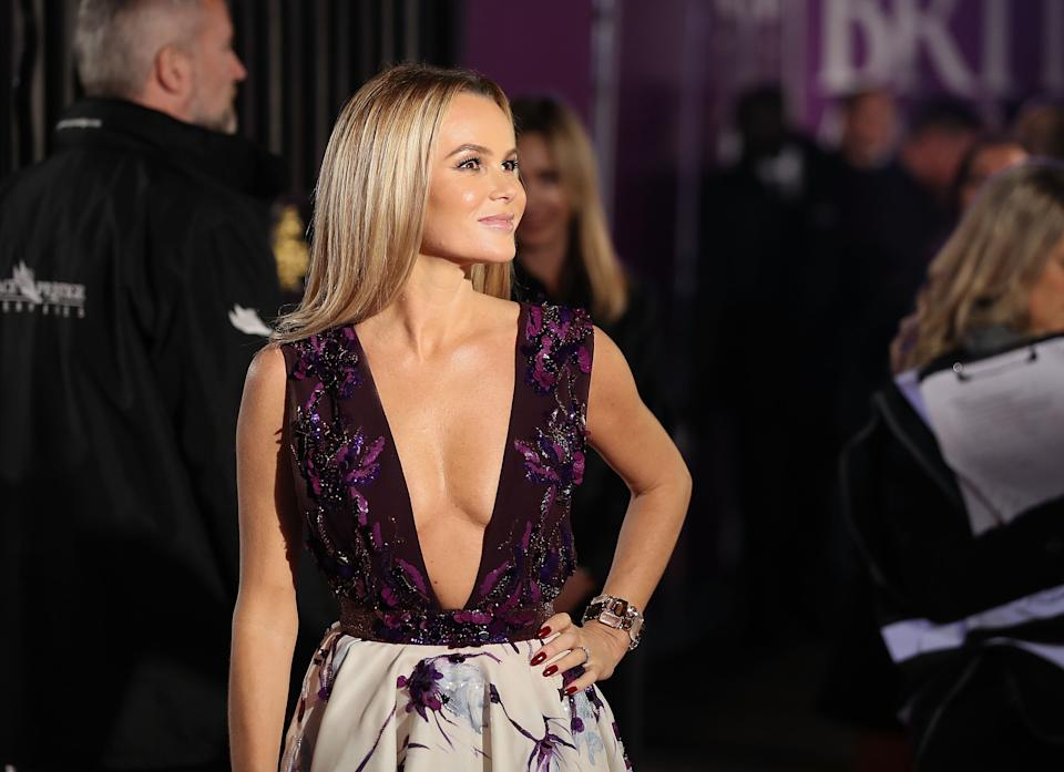 LONDON, ENGLAND - OCTOBER 30:  Amanda Holden attends the Pride Of Britain Awards at Grosvenor House, on October 30, 2017 in London, England.  (Photo by Mike Marsland/Mike Marsland/WireImage)