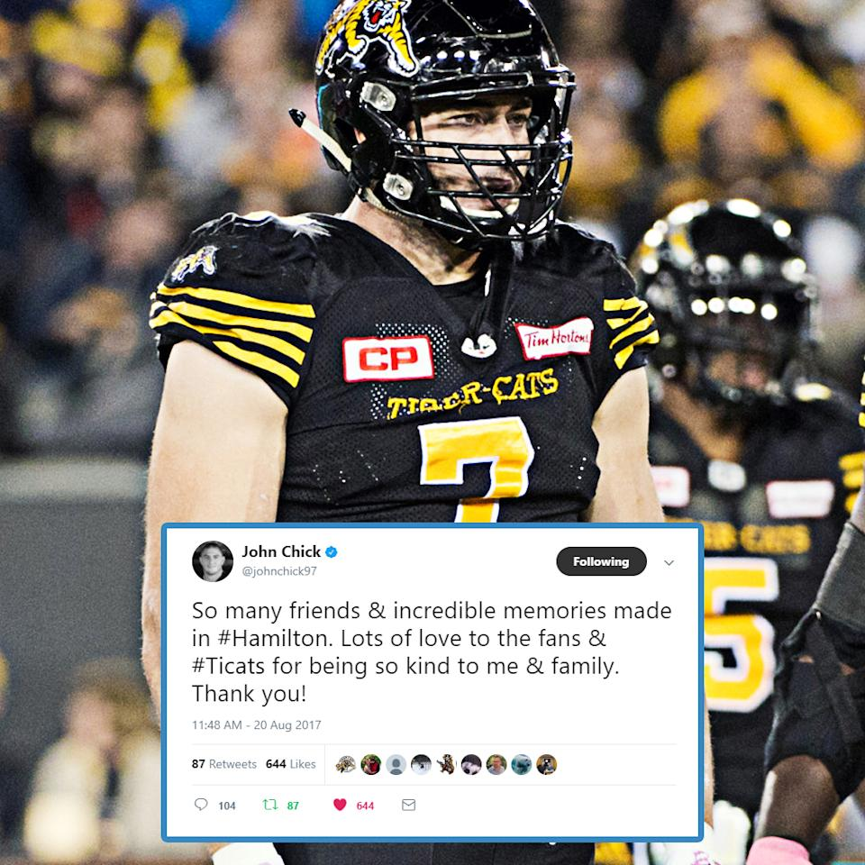 After the somewhat shocking trade of John Chick from the Ticats to the Esks, CFL.ca's Marshall Ferguson gives his take on what it means for both clubs.